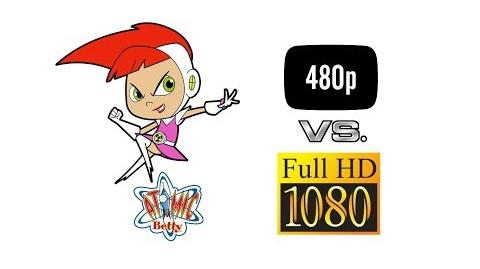 Atomic Betty Clip Betty's New Haircut - Aspect Ratio Comparison - 4 3 vs. 16 9 HD