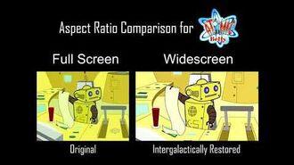 Atomic Betty S1 Episode - Toxic Talent - Aspect Ratio Clip Comparison - 4 3 vs. 16 9 3 HD