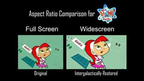 Atomic Betty - Aspect Ratio Comparison - Full Screen (Original) vs. Widescreen (Remastered) HD