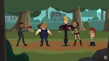 I Pattinatori e le Poliziotte si boomeranghizzano a vicenda