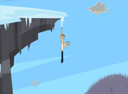 Scott rimane appeso ad una stalattite TDAS