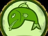 Salmoni che Nuotano