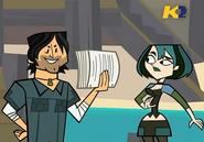 TDI Chris mostra copia contratto a Gwen