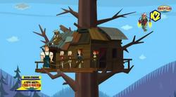TDPI Squadra Salmoni casetta su albero
