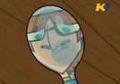TDI Harold guarda con cucchiaio baffi disegnati