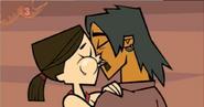 Alejandro and heather tdwt kiss