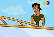 TDI Justin sulla nave arrivo al campo