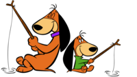 The Doggies family fishing