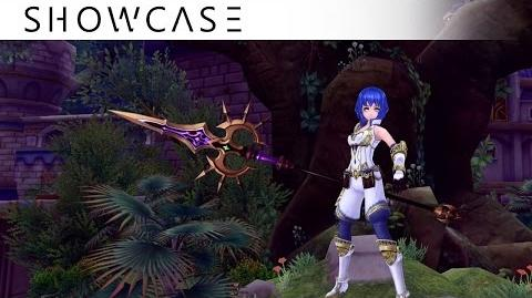 Showcase Aura Kingdom Lancer Ronin (Lance Tachi) - Skills & Combo Gameplay