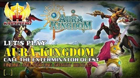 Let's Play Aura Kingdom - Call The Exterminator Quest - Finding And Fighting Grassy Beatles