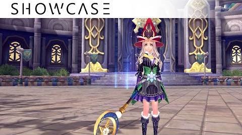 Showcase Aura Kingdom Wizard Sorcerer (Staff Grimoire) - Skills & Combo Gameplay