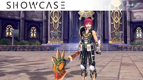 Showcase Aura Kingdom Ravager Guardian (Great Axe Sword and Shield) - Skills & Combo Gameplay