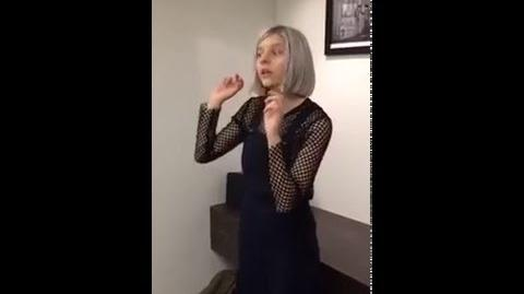 Aurora live of 'Murder Song' and 'Conqueror' On Billboard's office (Periscope)