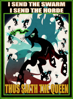 Poster queen chrysalis