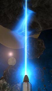 Mining laser effect