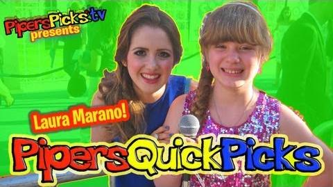 LAURA MARANO Talks Dating AUSTIN & ALLY Singing Don't Look Down at MONSTERS UNIVERSITY Premiere!