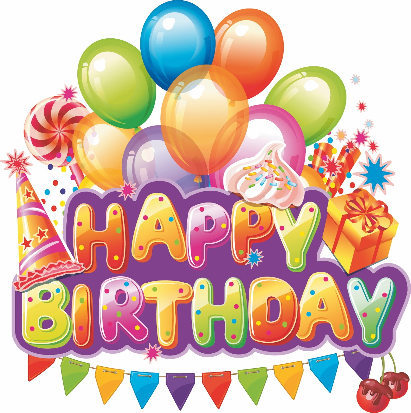 Image Happy Birthday Text With Party Elementg Austin Ally