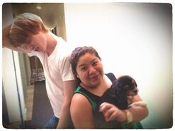 Calum, Pixie, and Raini