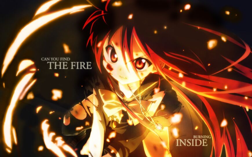 Anime girl flame fire hd-wallpaper-345791