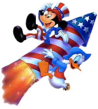 Image  4th July Mickey Mouse Donald Duck Rocketjpg  Austin