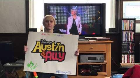 AUSTIN AND ALLY'S NUMBER 1 FAN!!!! ) PLEASE GET ELLEN DEGENERES TO SEE MY VIDEO!!!!!!!!!! '( '(