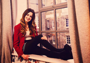 Laura posing