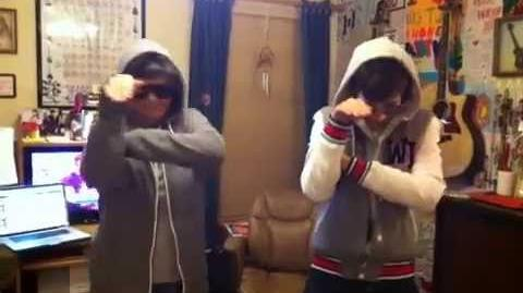 Austin Mahone and Mema SwagSteppin Lol dancing