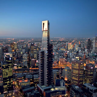 Sky view of the Eureka Tower.
