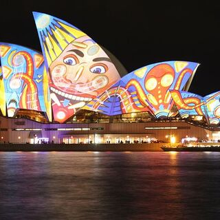 Sydney Opera House during vivid Sydney 2013