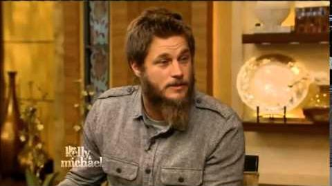 """Live! With Kelly and Michael Interview """"Vikings"""" TV Series Star TRAVIS FIMMEL-1"""