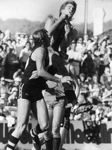 Motley soars above Chris Duthy in 1985