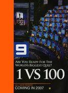 1 vs, 100 Promo Flyer