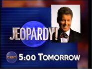Jeopardy! Tomorrow at 5