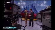 John burgess And Adriana Xenides on a taping of wheel of fortune
