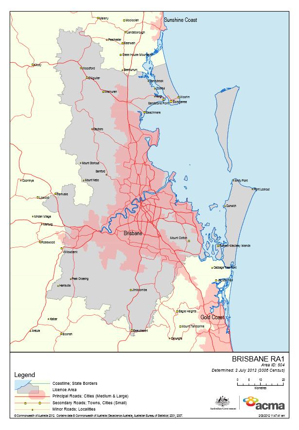 Brisbane Licence Area