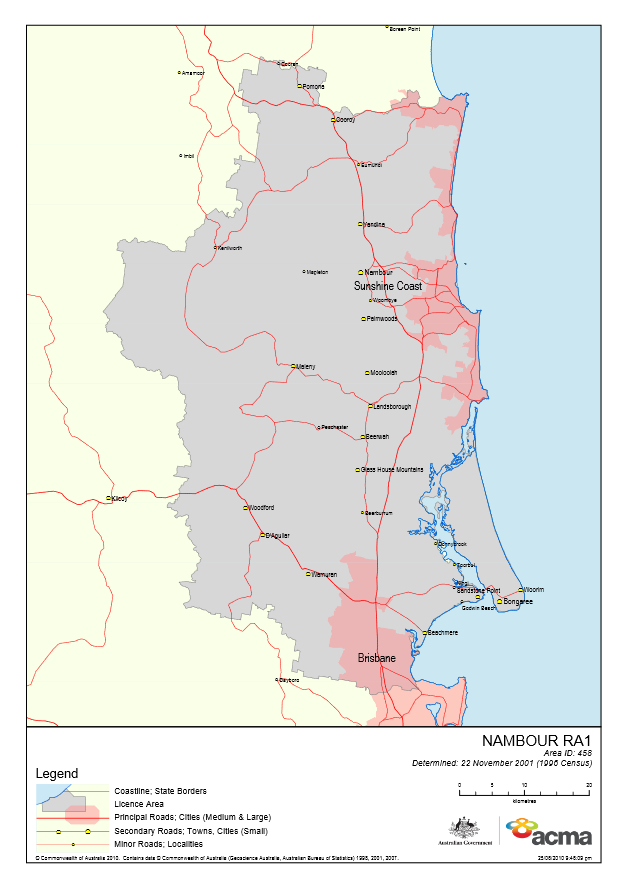 Nambour Licence Area