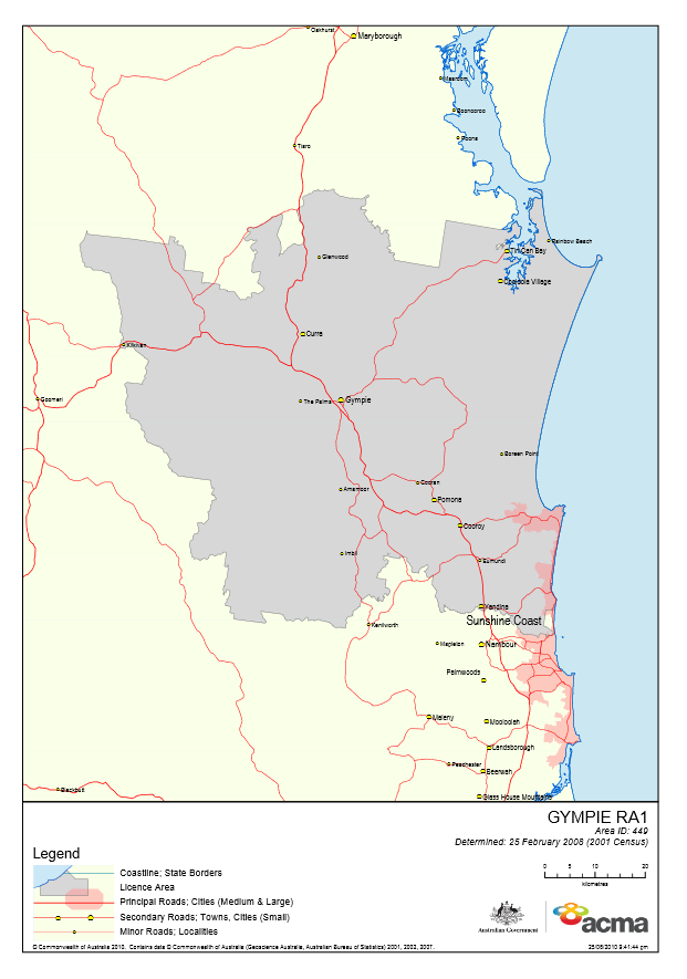 Gympie Licence Area