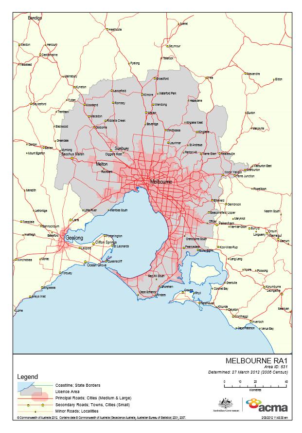 Melbourne Licence Area