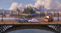 Mater bridge romance Cars 2 auta2