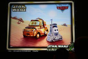 Star Wars Pixar Cars - C3PO Luigi and R2D2 Guido