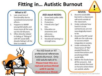 Autistic Burnout from Karla's ASD Page