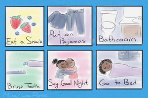 Illustrated Bedtime Schedule by MissLunaRose