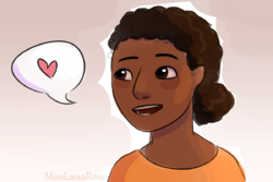 Relaxed Woman Talking by MissLunaRose
