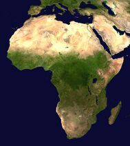Africa satellite orthographic