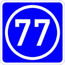 Knoten 77 blau