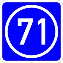 Knoten 71 blau