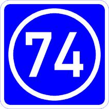 Knoten 74 blau