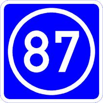 Knoten 87 blau