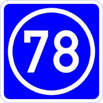 Knoten 78 blau