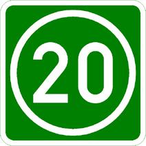 Knoten 20 grün